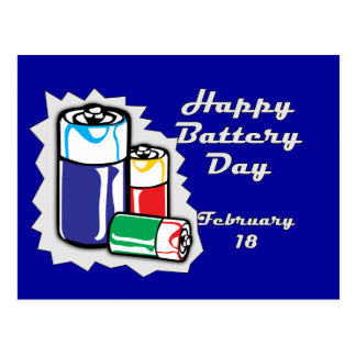 Battery Day February 18 Postcard