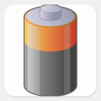 Battery Square Sticker