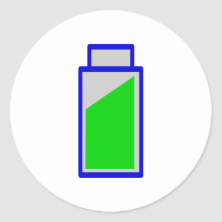 Battery status battery accu status round sticker