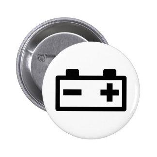 Battery symbol 2 inch round button