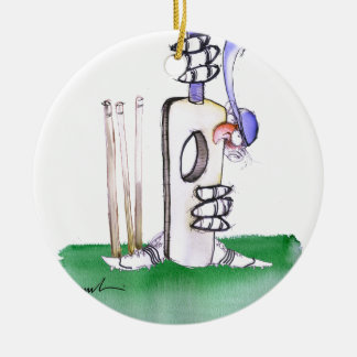 BATTING LESSON, tony fernandes Round Ceramic Ornament