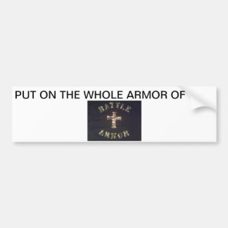 BATTLE ARMOR BUMPER STICKER