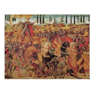 Battle between Darius  and Alexander the Great Postcard