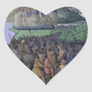 Battle between the Maccabees and the Bacchides Heart Sticker