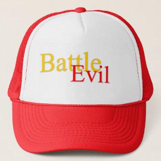 Battle Evil Logo Red/White Trucker Hat