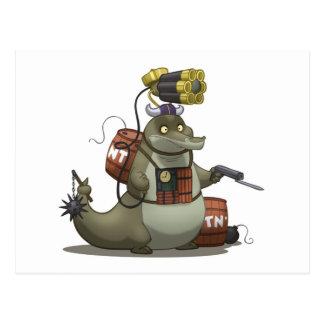 Battle Gator Postcard