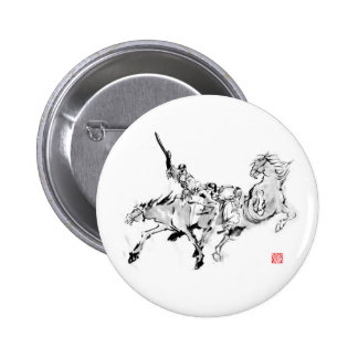Battle & horse - Tales of ancient Japan 2 Inch Round Button