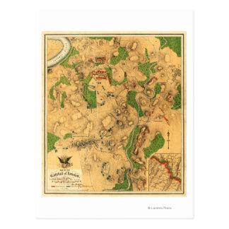 Battle of Antietam - Civil War Panoramic Map 3 Postcard
