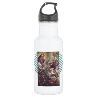Battle of Archangel Michael, Satan by Tintoretto 532 Ml Water Bottle