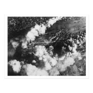 Battle of Britain & The Blitz: #19 Docks on Fire Postcard