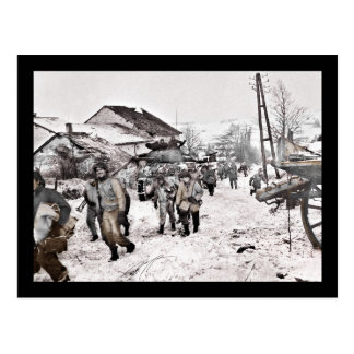 Battle of Bulge Troop Recon Postcard