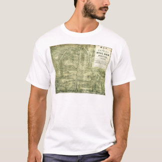 Battle of Bull Run Map by West & Jackson (1861) T-Shirt