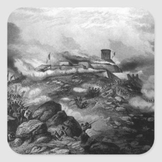 Battle of Chapultepec.  September 1847_War Image Square Sticker