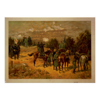 Battle of Chattanooga by Thure de Thulstrup Poster
