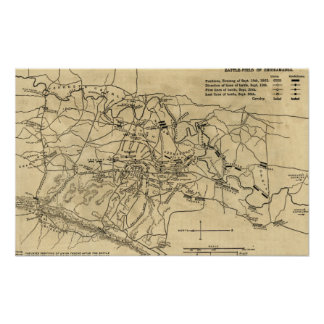 Battle of Chickamauga - Civil War Panoramic Map 2 Poster