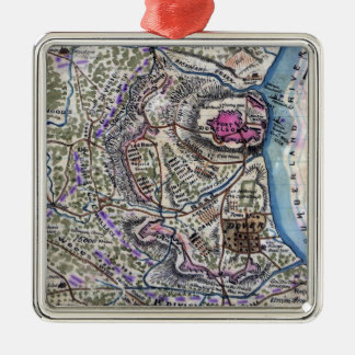 Battle of Fort Donelson - Civil War Panoramic Metal Ornament