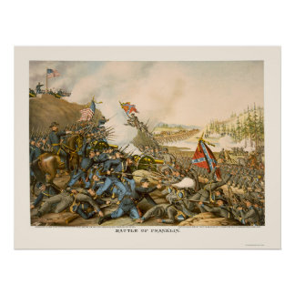 Battle of Franklin by Kurz and Allison 1864 Poster