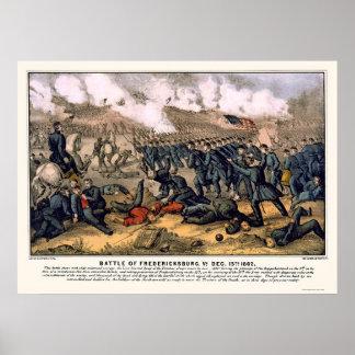 Battle of Fredericksburg by  1862 Poster