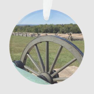 Battle of Gettysburg Cannon Round Acrylic Ornament