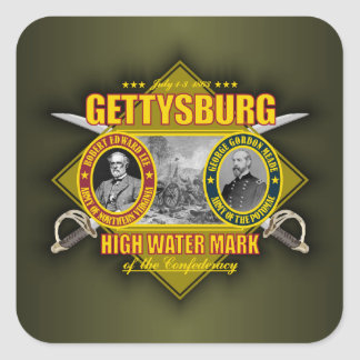 Battle of Gettysburg Square Sticker