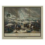 Battle of Gettysburg Water Colour Print