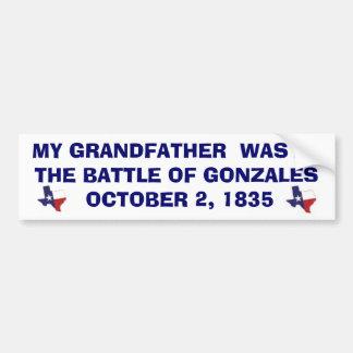 BATTLE OF GONZALES - 1835 BUMPER STICKER