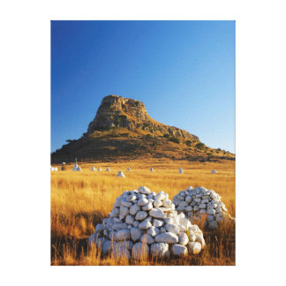 Battle Of Isandlwana Memorial Near Nqutu Stretched Canvas Print