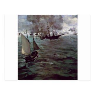 Battle of Kearsage and Alabama by Edouard Manet Postcard