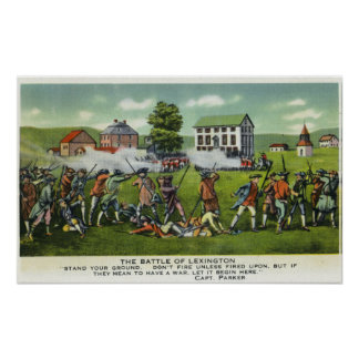 Battle of Lexington Scene Poster