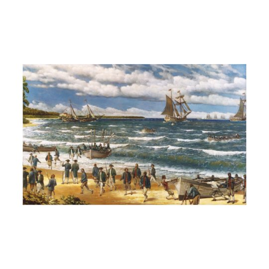 Battle of Nassau, Canvas Art Print