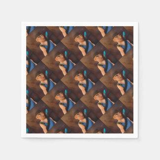 Battle of pencil paper napkins
