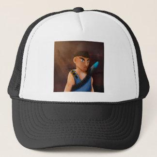 Battle of pencil trucker hat
