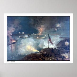 Battle of Port Hudson -- Civil War Poster