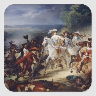 Battle of Rocroy, 19th May 1643, 1834 Square Sticker