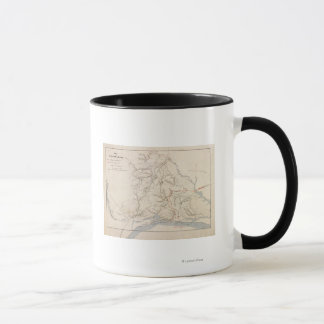 Battle of Shiloh - Civil War Panoramic Map 4 Mug