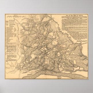 Battle of Shiloh - Civil War Panoramic Map Poster