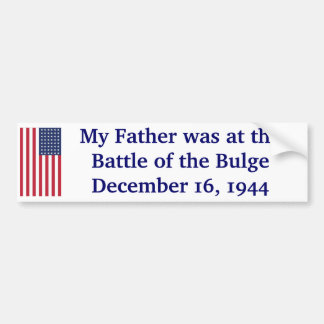 Battle of the Bulge Bumper Sticker