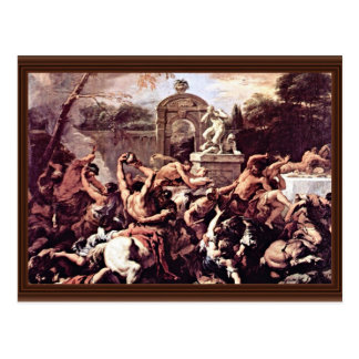 Battle Of The Centaurs And Lapiths By Ricci Postcard
