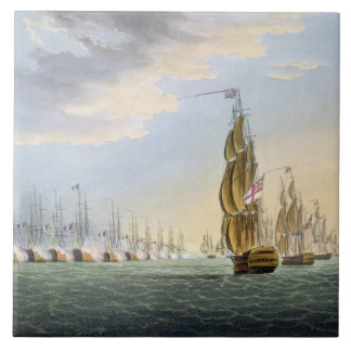 Battle of the Nile, August 1st 1798, engraved by T Tile