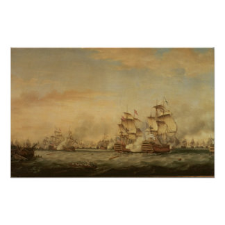 Battle of the Saints, 1782 Poster