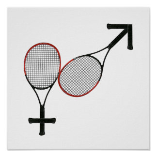 Battle of the Sexes Tennis Poster