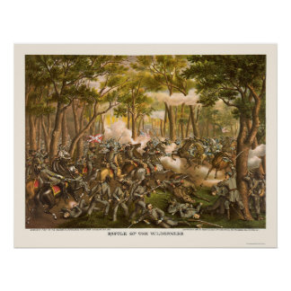 Battle of the Wilderness by Kurz and Allison 1864 Poster