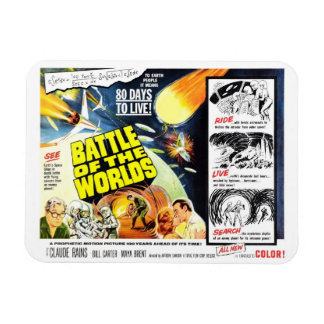 """Battle of the Worlds"" Magnet"