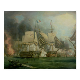 Battle of Trafalgar, 1805 Poster