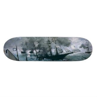 Battle of USS Kearsarge and CSS Alabama by Manet Custom Skateboard