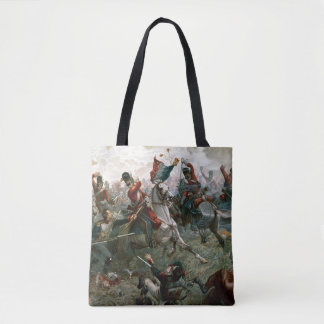Battle of Waterloo, 18th June 1815, 1898 (colour l Tote Bag