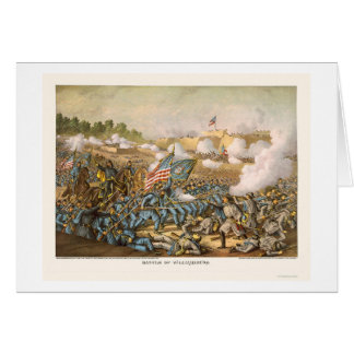 Battle of Williamsburg by Kurz and Allison 1862 Card