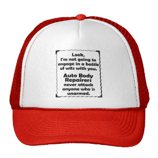Battle of Wits Auto Body Repairer Hat