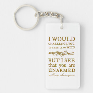 Battle of Wits Challenge Double-Sided Rectangular Acrylic Keychain
