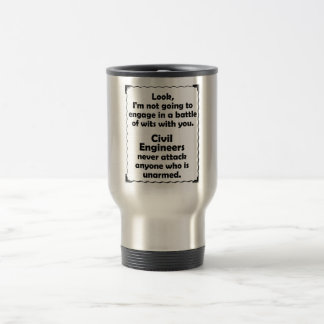 Battle of Wits Civil Engineers Travel Mug